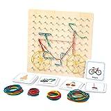 Sharplace Montessori-Tablero geográfico de Madera, Material de manipulación matemática,...