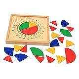 lahomia Juguete de Desarrollo de Inteligencia de Materiales de Matemáticas Montessori -...