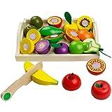 yoptote Frutas y Verduras Juguete para Cortar Frutas Verduras Juguetes Montessori Comida...