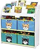 Homfa Estantería para Juguetes Libros Librería Infantil Organizador para Niños con 4...