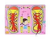 Yx-outdoor Tablero Ocupado para Atar Cordones de Zapatos para niñas Montessori, Juguetes...