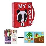 didatecar DIY Libros Blandos De Fieltro para Bebé, Montessori Tableros De Aprendizaje,...