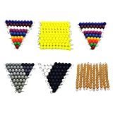 MERIGLARE Material Matemático 1100 Números Cuenta 1 10 Barras de Perlas