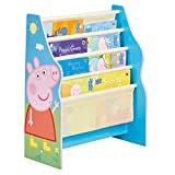 Worlds Apart Librería con estantes Colgantes, Madera, Azul, 23x51x60 cm