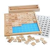 Amagogo Tabla de números de Juguete de 1-100 Cien, Cuenta de Juguetes educativos para el...