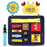 aovowog Busy Board para Niños,Juguetes de Bebé Habilidades de Vida básicas...