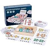 Computational Games - Juego de cálculo Montessori de madera, cubos matemáticos para...